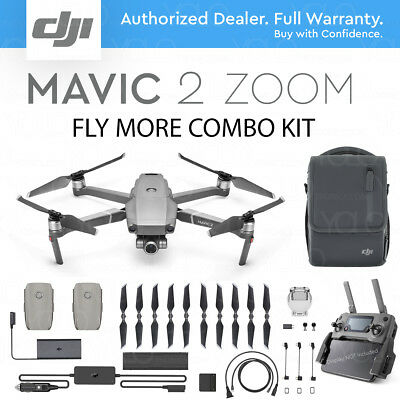 AU2280.94 • Buy DJI MAVIC 2 ZOOM With 2x Optical ZOOM. 12 MP Camera + FLY MORE COMBO KIT