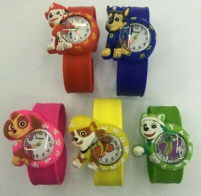 PAW PATROL Snap / Slap Soft Silicone Strap 3D Watch Brand New For Kids  • 3.99£