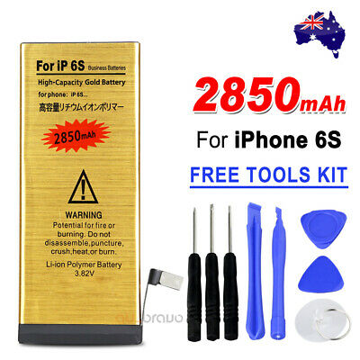 AU13.85 • Buy 2850mAH For Apple IPhone 6S High Capacity Golden Internal Replacement Battery OZ