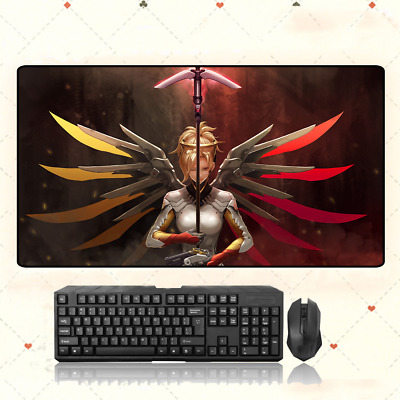 AU28.42 • Buy GAME Overwatch OW Mercy Extra Large Mouse Pad Free Shipping(32'' * 16'')