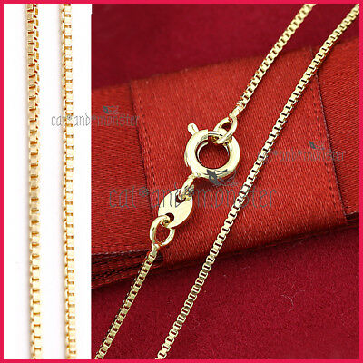 AU6.99 • Buy Ladies Girls KIDS 18K GOLD GF SOLID BOX CHAIN NECKLACE FOR PENDANT JEWELRY 45cm