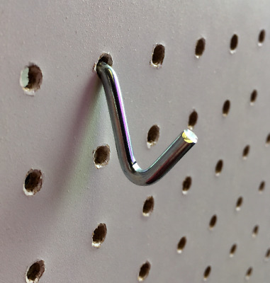 Single Prong With Single Hook Small Pegboard Hooks Pack Of 10 For 3mm And 6mm • 8.58£