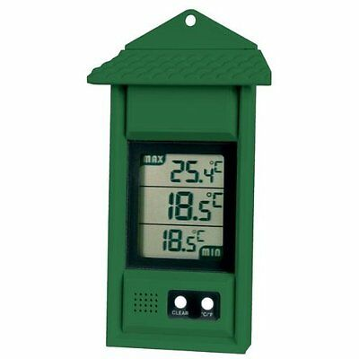 Digital Max/min Thermometer For Conservatories, Greenhouses & Grow Rooms Green • 15.45£