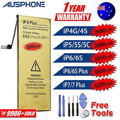 AU9.95 • Buy For Apple IPhone 4S 5S 5C 6 6S 7 PLUS High Capacity Battery Replacement Tools OZ