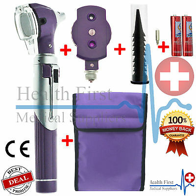 Purple F.O Otoscope Ophthalmoscope Opthalmoscope ENT Diagnostic Examination Set  • 16.49£