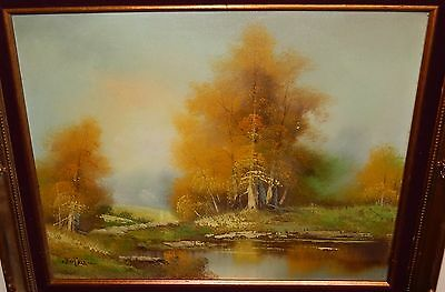 $ CDN362.85 • Buy Cantrell Original Oil On Canvas Landscape Lake Painting