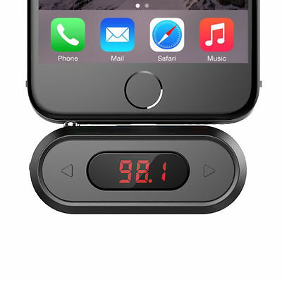 Black 3.5mm In Car Universal Wireless FM Transmitter Radio Car Kit For IPhone  • 7.49£