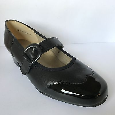 Equity Honey Mary Janes Black Patent Shoes EEE Fitting £32.99 • 32.99£