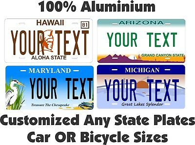 Any State Any Text License Plate Personalized Custom Auto Car Bike Bicycle Tag • 17.10$
