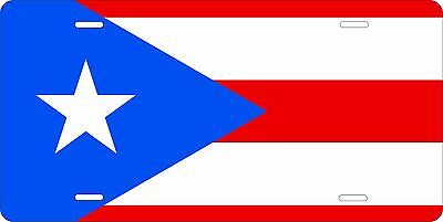 Puerto Rico Flag License Plate Personalized Custom Car Bike Motorcycle Moped • 12.09£