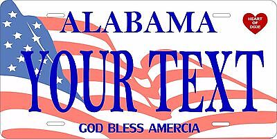 Alabama Flag License Plate Personalized Custom Car Auto Bike Motorcycle Moped • 10.68£