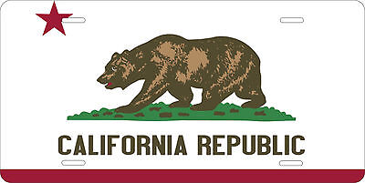 California Flag License Plate Personalized Custom Car Auto Bike Motorcycle Moped • 12.09£