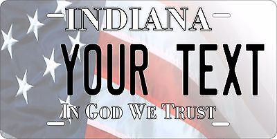 Indiana USA Flag License Plate Personalized Custom Car Bike Motorcycle Moped • 10.68£