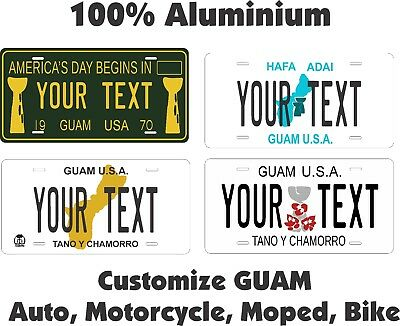 Guam Custom  Personalized Auto Car Motorcycle Moped Bike Bicycle License Plate • 7.99£
