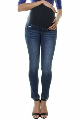 Maternity Pregnancy Jeans Over Bump Skinny Slim Straight Leg Denim Pants 6 To 22 • 8.99£