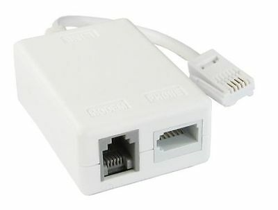 £3.95 • Buy ADSL Microfilter BT Line Filter Internet Broadband Telephone Splitter With Cable