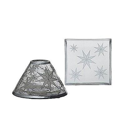 Yankee Candle Shade & Tray Set - Arctic Snowflake For Small Jar Candles • 14.99£