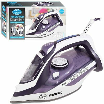 View Details Quest Cordless Steam Iron Vertical Ceramic Non-drip Non-stick Sole Plate 2400w • 21.99£