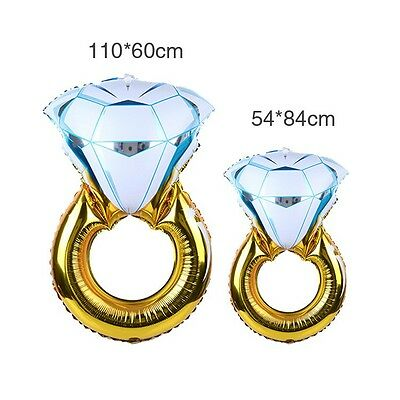 AU7.19 • Buy Large 110cm Diamond Ring Helium Foil Balloon Engagement Propose Wedding Party