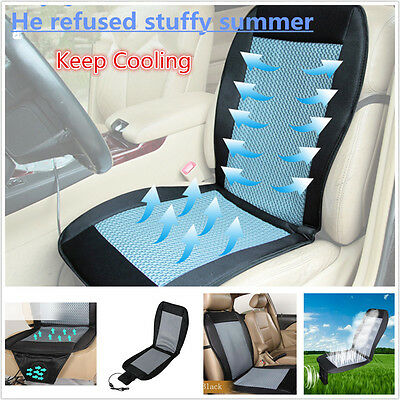 $ CDN67.85 • Buy 12V Car Seat Cooler Cushion Cover Summer Cooling Wind Seat W/ Air Ventilated Fan