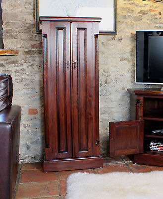 La Roque Solid Mahogany DVD CD Storage Rack Solid Wooden Shelving Stand 5 Tier • 459£