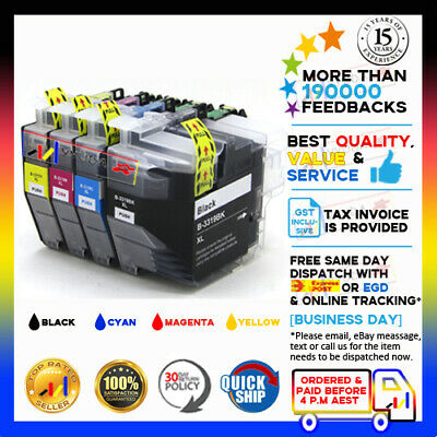 AU27.80 • Buy 4x YYUDA NoN-OEM LC-3319XL B/C/M/Y Ink For Brother LC-3317XL MFC-J5330/5730/6530