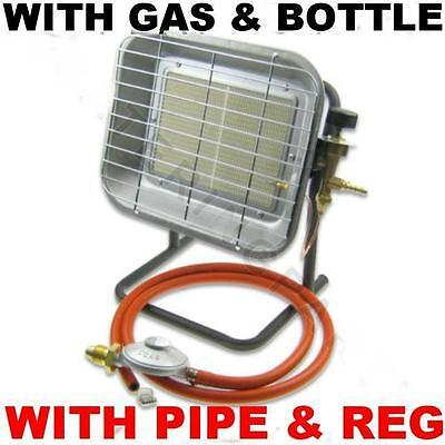 New With Hose Reg & Calor Gas Bottle 4.5 Kw Propane Camping Builders Site Heater • 284.95£
