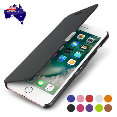 AU6.95 • Buy Ultra Slim Magnetic Flip Leather Case Cover For Apple IPhone X 8 7 Plus 6s 5s 6