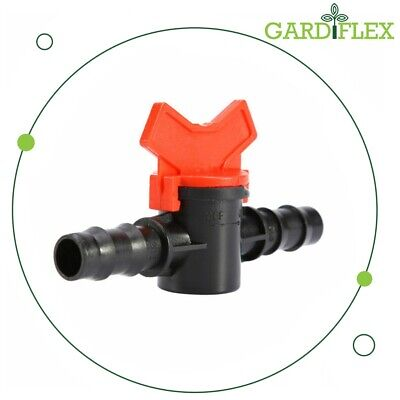 Gardiflex 13mm/16mm Pipe Coupling Hose InLine Valve Switch Irrigation Connector  • 3.99£