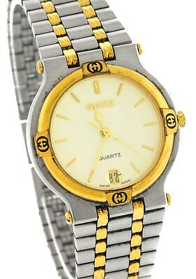 826e81fb963 Ladies Vintage Gucci 084-411 Swiss Two-Tone Stainless Steel Watch • 164.95