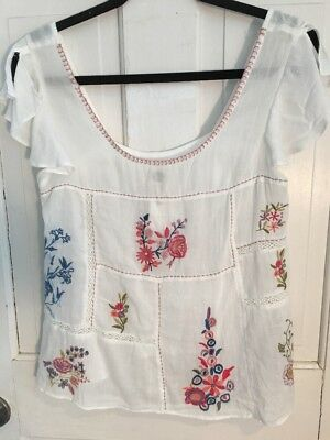 $ CDN71.87 • Buy 36. Nwt Anthropologie Floreat Floral Embroidered Top