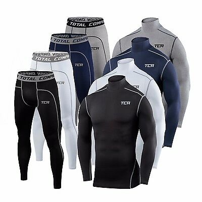 TCA Mens & Boys Pro Performance Base Layer Under Gear Compression Top & Leggings • 22.99£