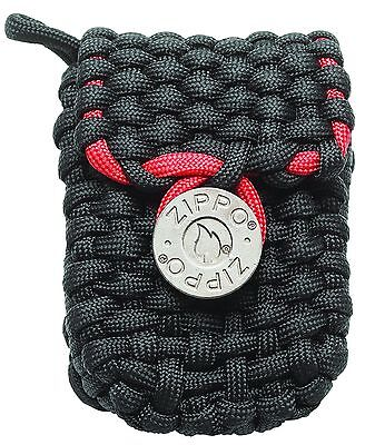 $12.43 • Buy Zippo Paracord Lighter Pouch With Belt Loops, Black & Red, 40467, New In Box