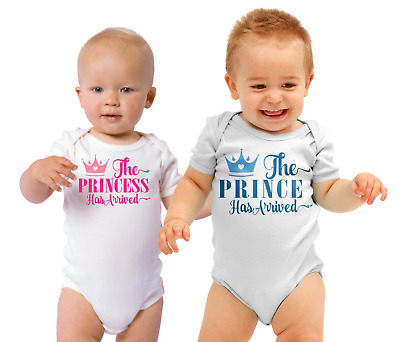 £7.80 • Buy The Princess/prince Has Arrived Baby/Toddler Vest Newborn Gift - Bodysuit/Grow