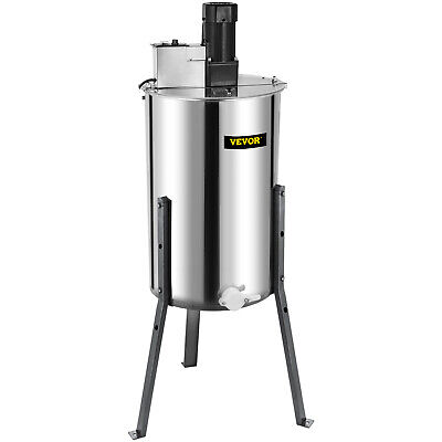 AU389.99 • Buy 3 Frame Electric Honey Extractor 15  Diameter 2 Clear  Lids Plastic Gate Great