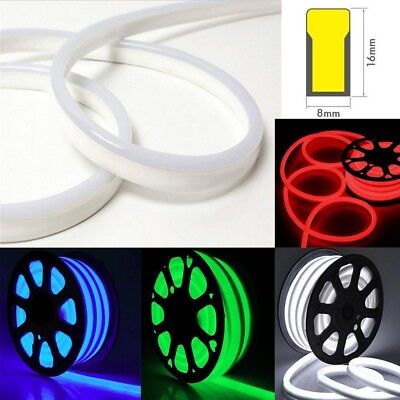 $49.50 • Buy 50' LED Flex Neon Rope Light Christmas Holiday Party Home/Indoor Outdoor Decor