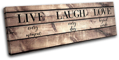 Live Laugh Love Inspirational Vintage SINGLE CANVAS WALL ART Picture Print • 29.99£