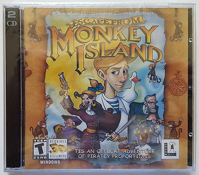 £21.27 • Buy NEW Escape From Monkey Island LucasArts 2 CD Windows PC Video Game 3D Graphics