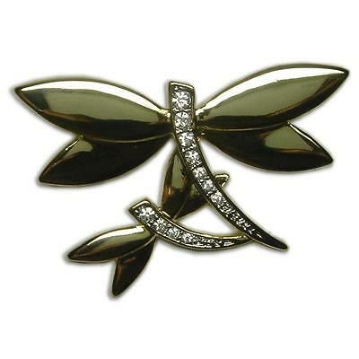 £7.08 • Buy Elegant Crystal Gold Plated Dragonfly Brooch Pin Made With Swarovski Elements