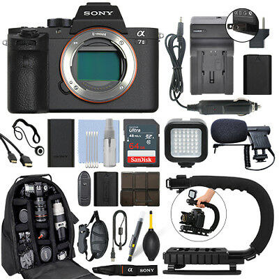 $ CDN1796.79 • Buy Sony Alpha A7 II Mirrorless 24.3MP Digital Camera Body + 64GB Pro Video Kit
