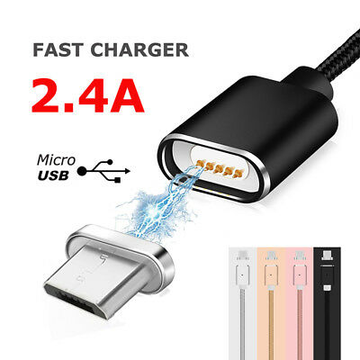 $ CDN4.98 • Buy 2.4A Magnetic Micro USB Fast Data Charger Cable For Samsung Galaxy S6 S7 Edge