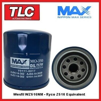 AU18.95 • Buy Nippon Max WZ516NM Oil Filter Z516 Ryco Equiv. Suits Many Vehicles