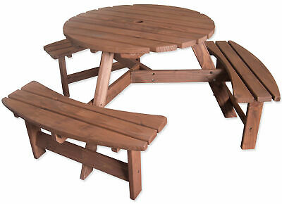 Pressure Treated 6 Seater Round Pub Bench Outdoor Garden/Picnic Table • 159.99£