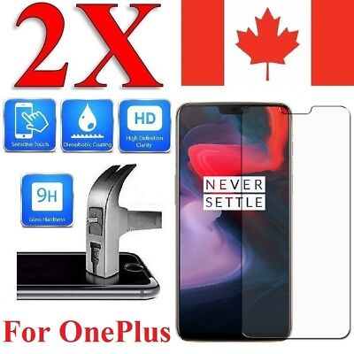 AU5.27 • Buy Tempered Glass Screen Protector Cover For OnePlus 7 6 6T 5 5T 3 3T One (2 PACK)