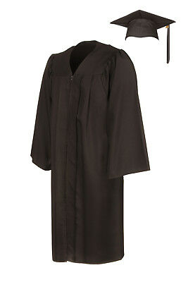 American Style Graduation Gown And Cap - Matte Finish • 23.95£