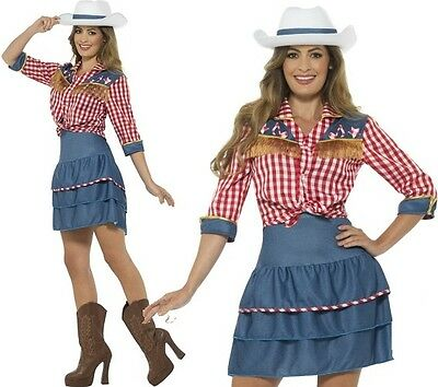 £29.99 • Buy Ladies Rodeo Doll Cowgirl Fancy Dress Costume Cow Girl Outfit By Smiffys