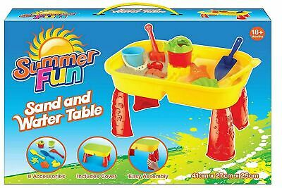 £15.99 • Buy Sand And Water Table Garden Sandpit Play Set Toy Watering Can Spade Sand Bucket