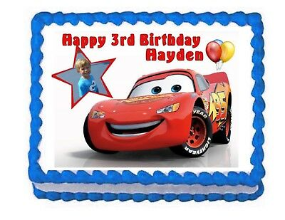 Cars Lightning McQueen Edible Cake Image Party Cake Topper Decoration  • 6.45£