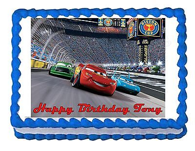 Lightning McQueen Cars Edible Cake Image Cake Topper Party Decoration • 6.45£