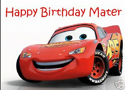 Lightning McQueen Cars Edible Cake Image Party Cake Topper • 6.47£